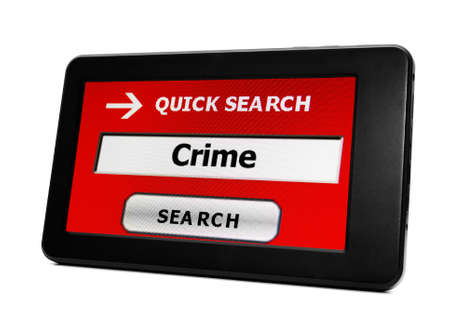 Crime on PC tablet Stock Photo - 18281970