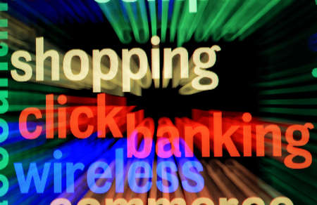 On line banking and shopping Stock Photo - 18389285