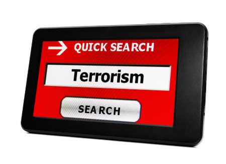 cyber warfare: Terrorism concept Stock Photo