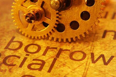 borrow: Borrow and gear concept
