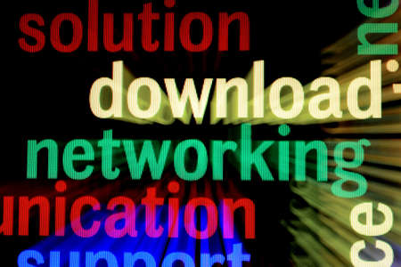Solution download networking Stock Photo - 18560491
