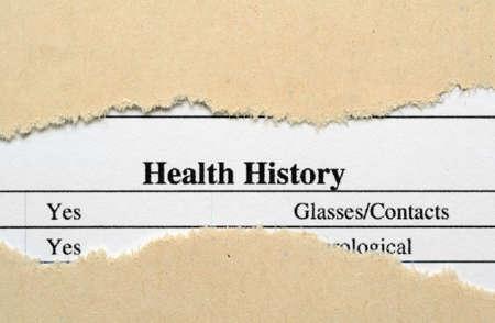 개인 정보 보호: 건강 기록 스톡 사진