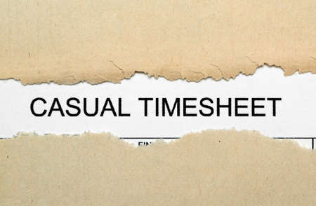 Casual timesheet Stock Photo - 18781173