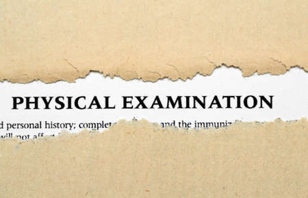 patient's history: Physical examination Stock Photo