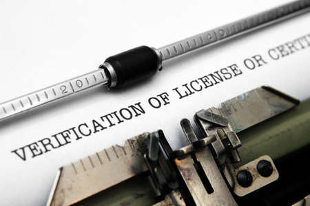 Verification of license Stock Photo - 18781133