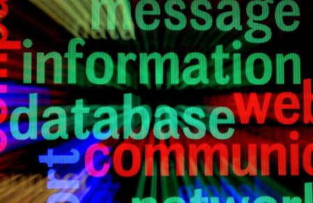 Database concept Stock Photo - 18964085