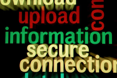Upload information secure Stock Photo - 18964078