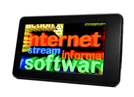 Internet concept on Pc tablet photo
