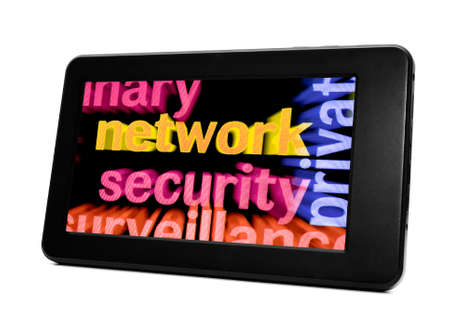 Network concept on Pc tablet Stock Photo - 18964032