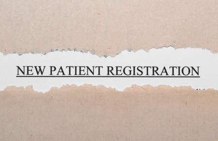 New patient registration photo