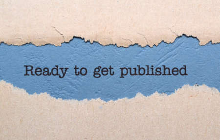 publish: Ready to get published Stock Photo