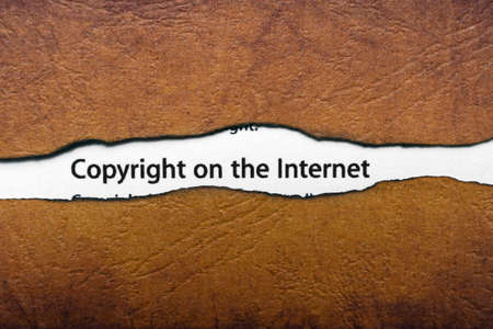Copyright on the internet photo