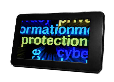 Protection and pc tablet Stock Photo - 19082923