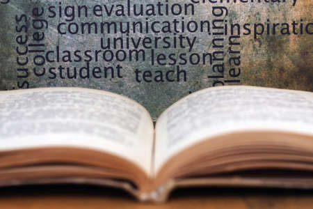 Book and knowledge concept photo