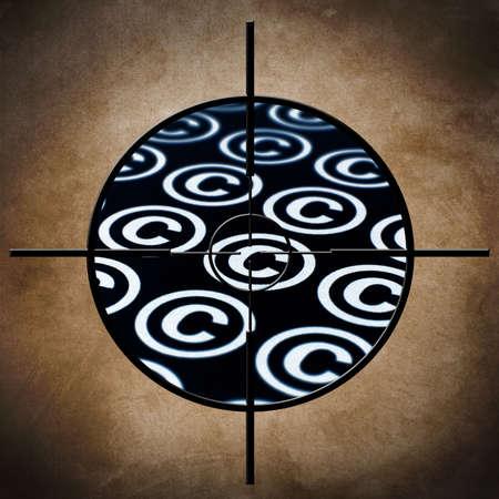 gun license: Copyright target concept