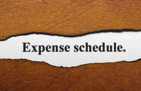 exemption: Expense schedule