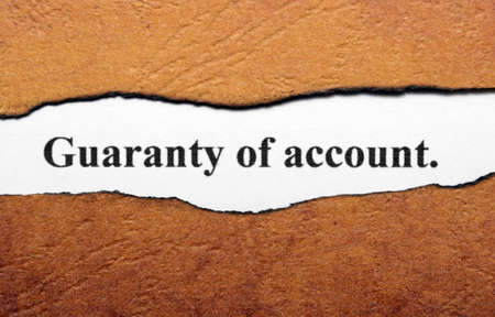 Guaranty of account Stock Photo - 19196418