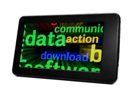 Data on pc tablet Stock Photo - 19433929