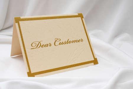 Dear customer photo