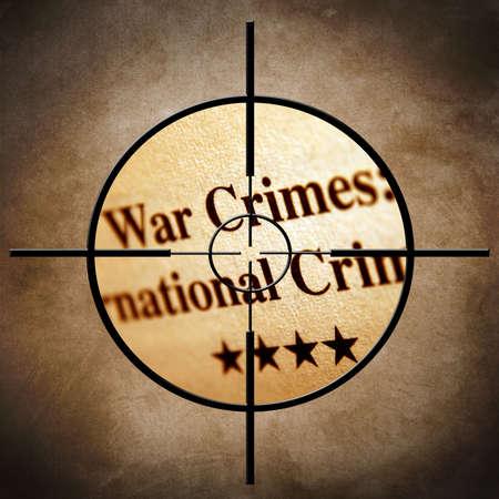 war crimes: War crimes target