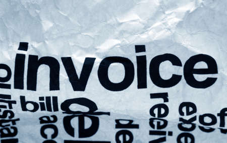 Invoice text on crinkled paper Stock Photo - 19434005
