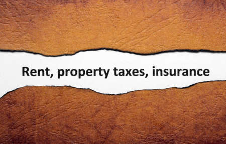 Rent property tax insurance photo