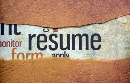 Resume-Konzept