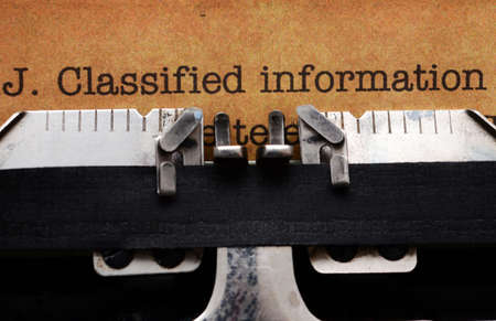 Classified information form photo