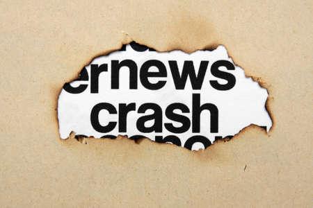 swaps: News crash concept