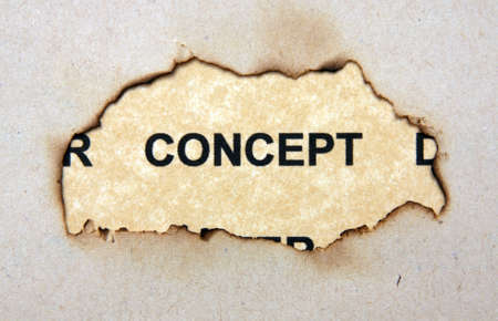 Concept text on paper hole photo