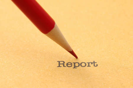 Pencil on report photo