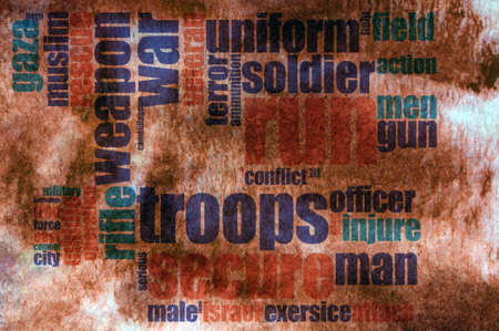 patriot act: Military word cloud