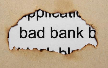 non cash: Bad banking concept Stock Photo