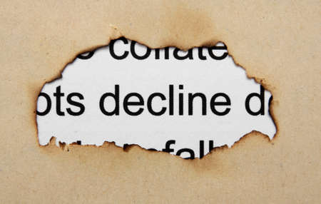 burning money: Decline text on paper hole