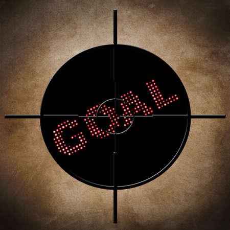 Goal target concept photo
