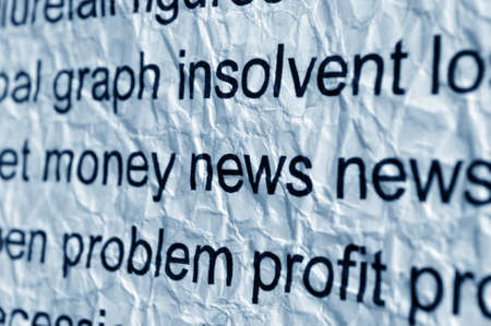 crinkles: Money and news concept