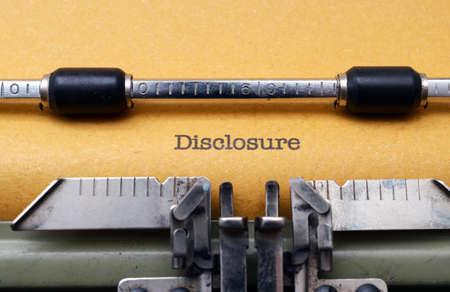 disclosure: Disclosure