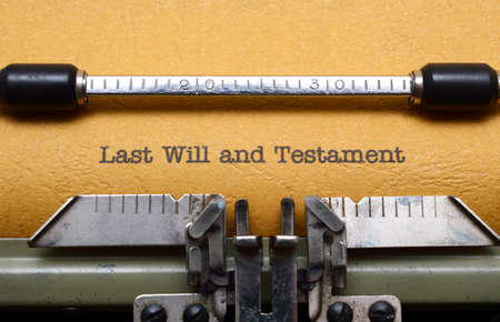 old testament: Last will and testament
