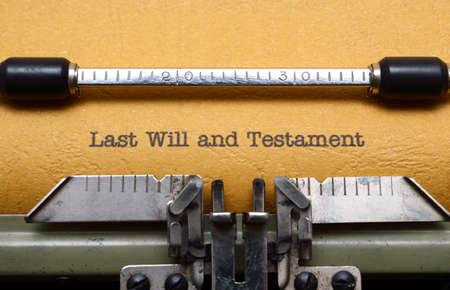 testament: ?tima voluntad y testamento Foto de archivo