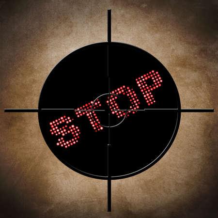 Stop target concept photo
