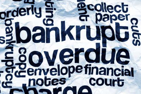 overdue: Bankrupt overdue concept Stock Photo