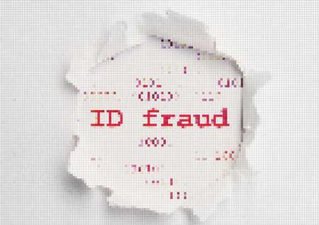 Id fraud pixel text photo