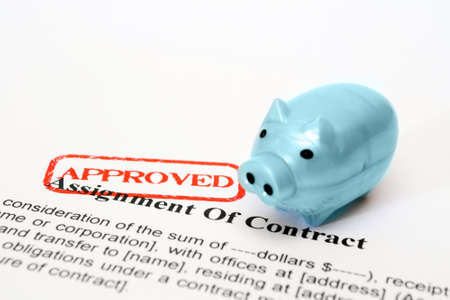 Assignment of contract Stock Photo - 20490010