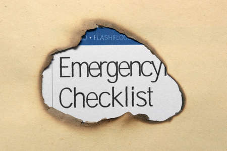 Emergency checklist photo