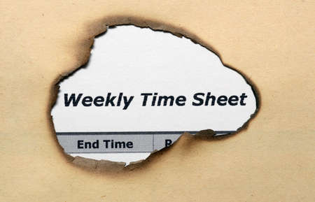 Weekly time sheet photo