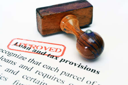 Loan and tax approved Stock Photo - 20613080