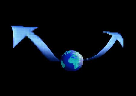 0 geography: Pixel globe