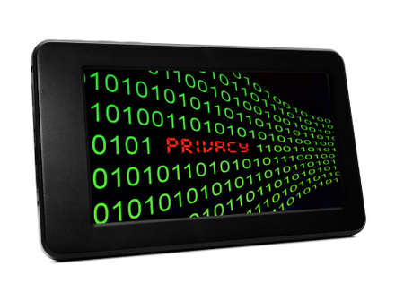 Privacy text on Pc tablet photo