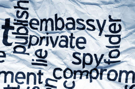 compromised: Embassy private spy Stock Photo