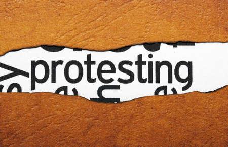 trade union: Protest concept Stock Photo